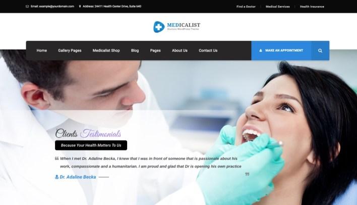 Tema de WordPress médico