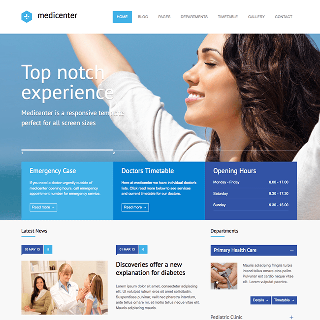 MediCenter Medical WordPress Theme WPExplorer