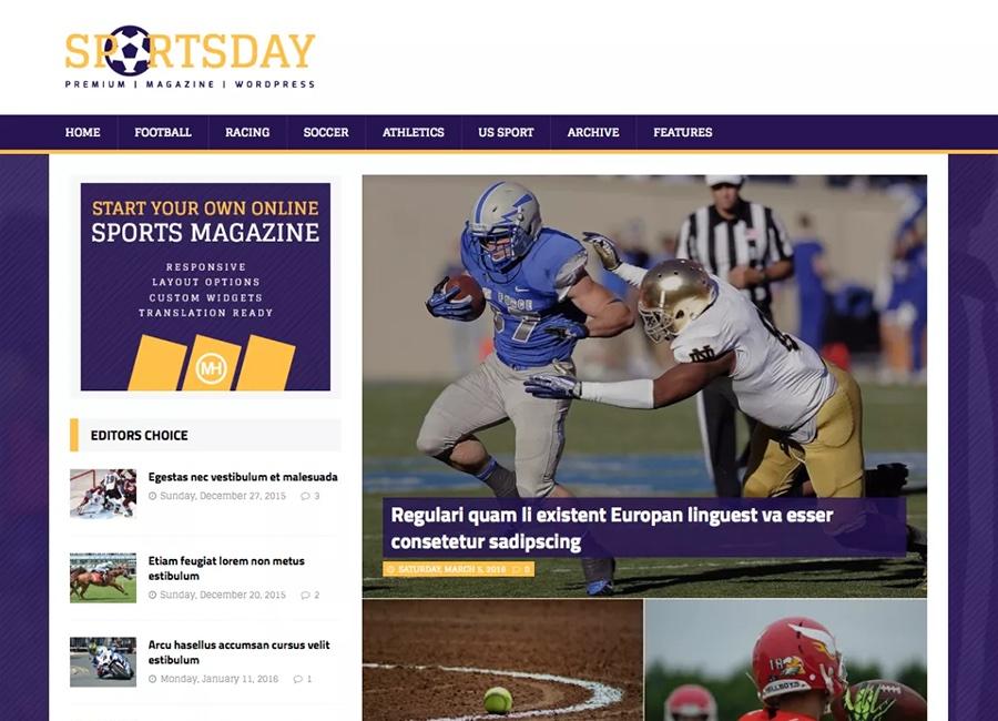 MH SportsMagazine Free WordPress Theme