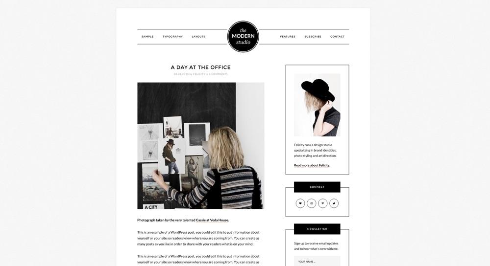 Modern Studio Pro Blog WordPress Theme