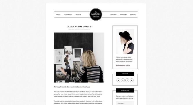 Thème WordPress pour blog Modern Studio Pro