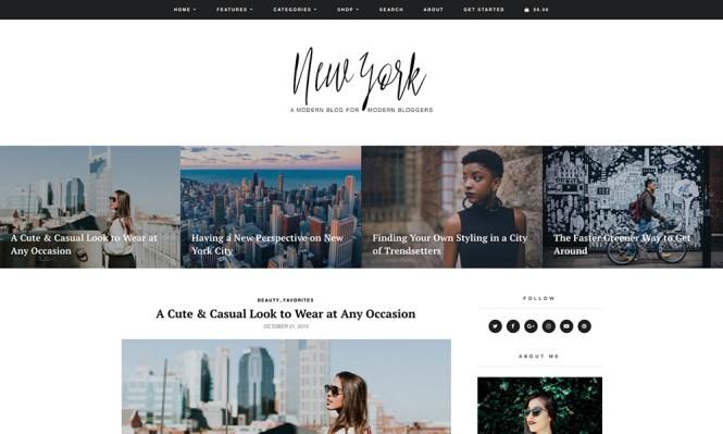 New York Blog & Shop Thème WordPress