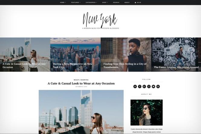 Thème du blog et de la boutique WordPress de New York