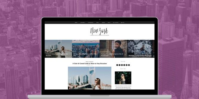 Thème WordPress pour commerce électronique à New York