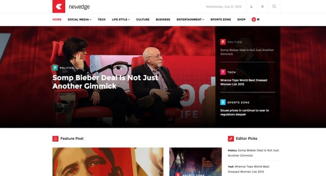 NewEdge Responsive WordPress Magazine Thème