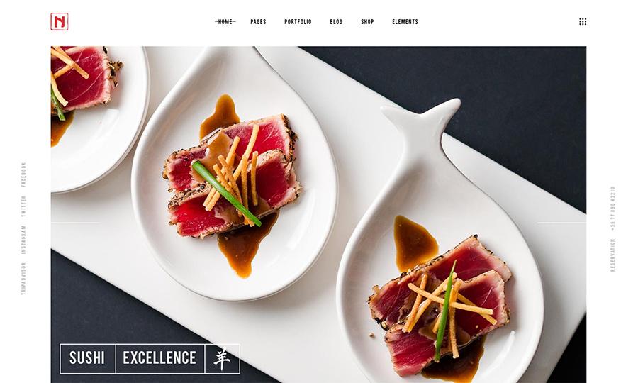 Нигири Современный ресторан WordPress Theme
