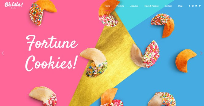 Ohlala Cake Shop, Thème WordPress - Bar à crème glacée et à jus