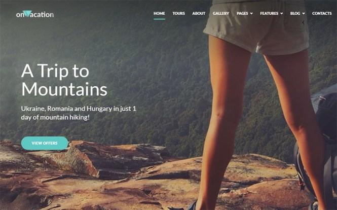 Thème WordPress OnVacation Travel Company Elementor