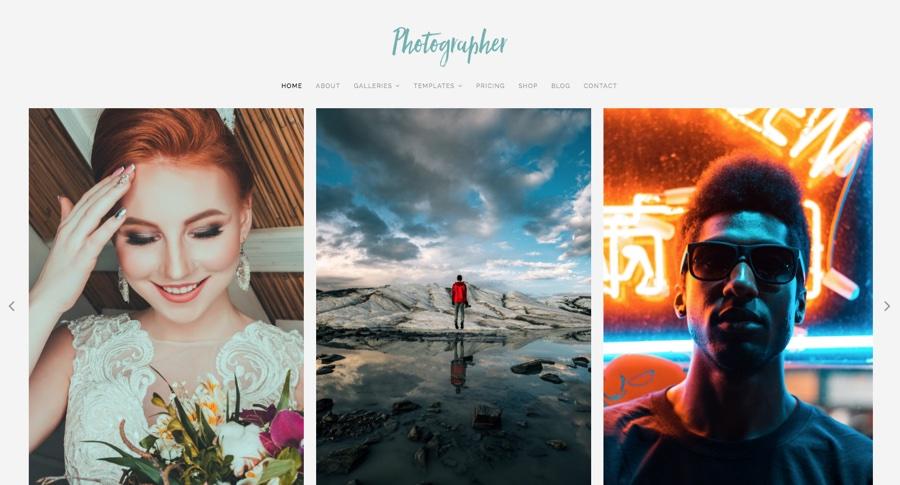Фотограф WordPress Theme
