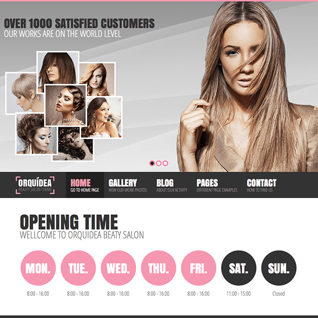 Orquidea Beauty Salon Girly WordPress Theme WPExplorer