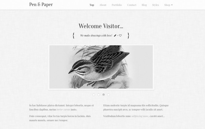 Thème WordPress Pen and Paper