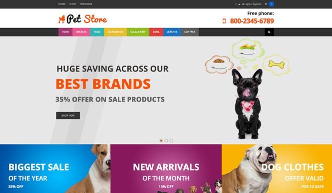 Pet Store WooCommerce Thème WordPress