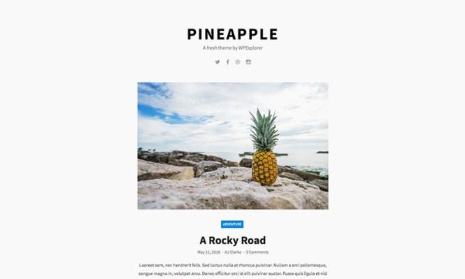 Thème WordPress gratuit à l'ananas