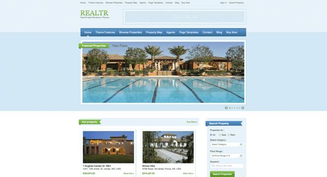 realtr-templatic-real-estate-wordpress-theme