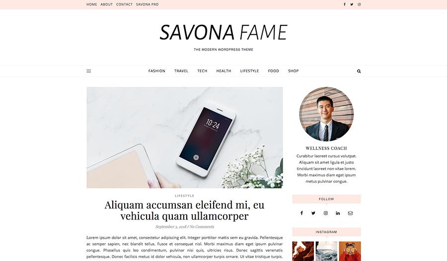 Savona Fame Free WordPress Theme