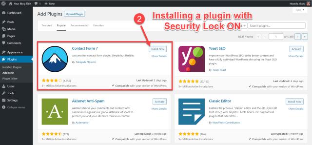 scala swordpress manager options - security lock 2