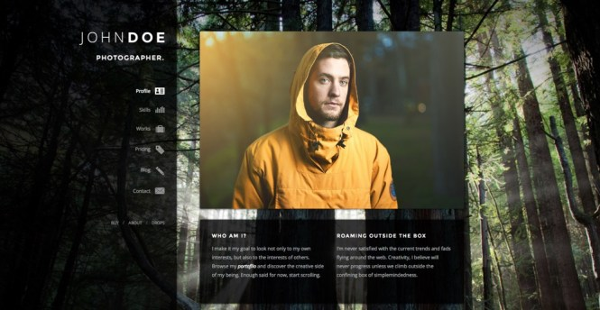 Selfless A One Page WordPress VCard Theme