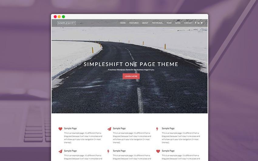 SimpleShift WordPress Theme