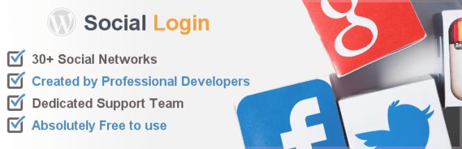 Connexion sociale Plugin WordPress gratuit