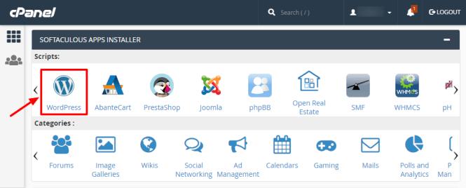 programme d'installation de softaculous app