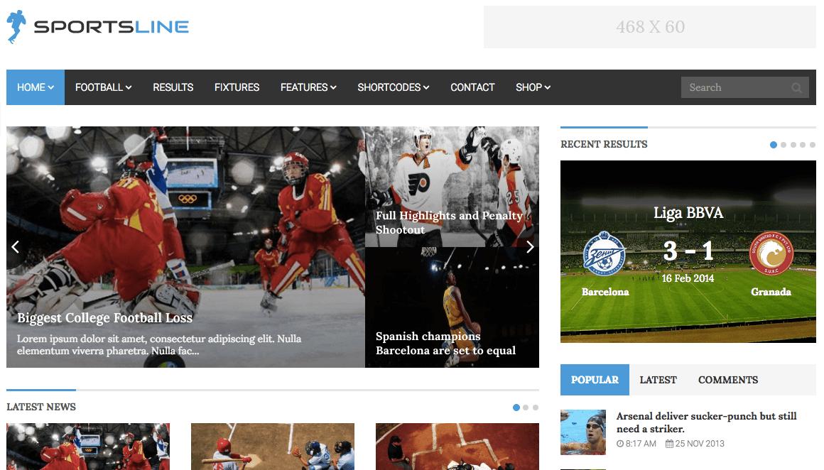 Sportsline theme