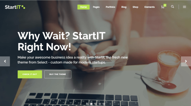 Startit Startup Business Thème WordPress