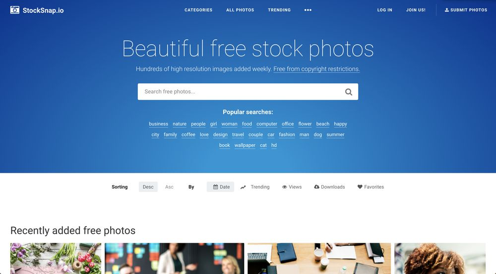 stocksnap.io free high-resolution stock photos wpexplorer