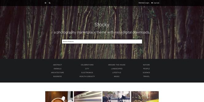 Stocky - Un thème du marché de la photographie