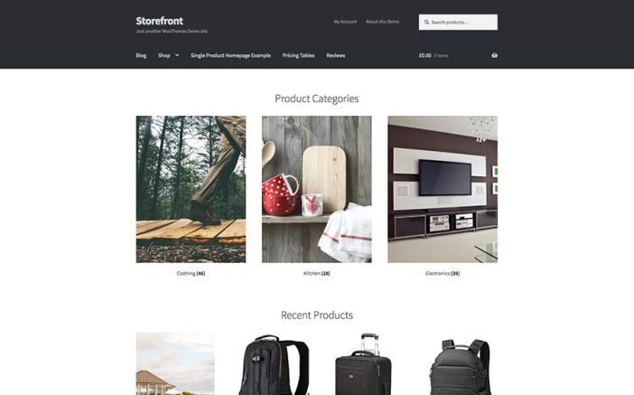 Tienda de comercio electrónico tema de WordPress