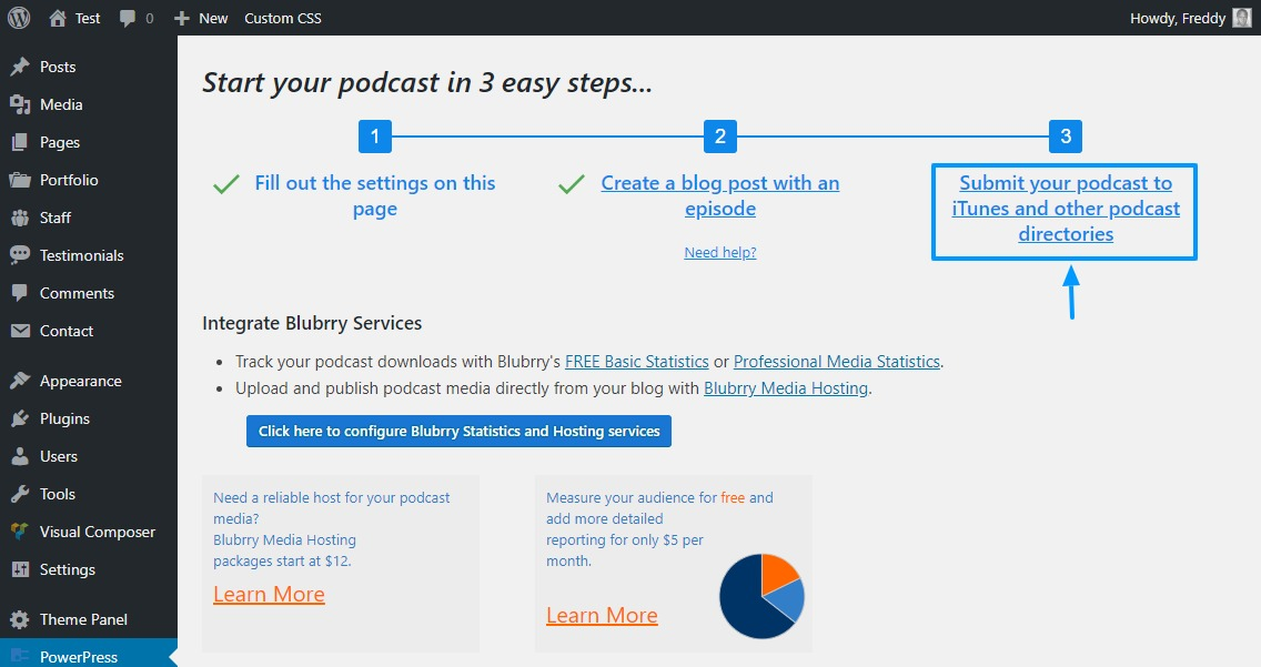 submitting podcast to podcast directories using the powerpress plugin