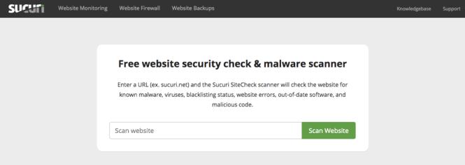 Scanner Sucuri SiteCheck