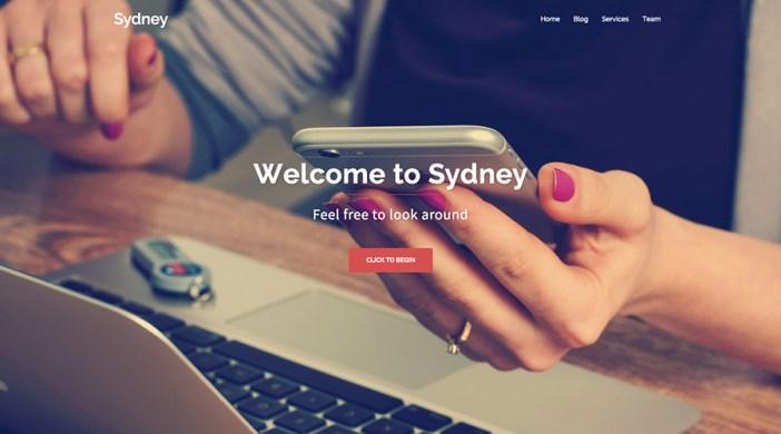 Tema de WordPress gratis en Sydney