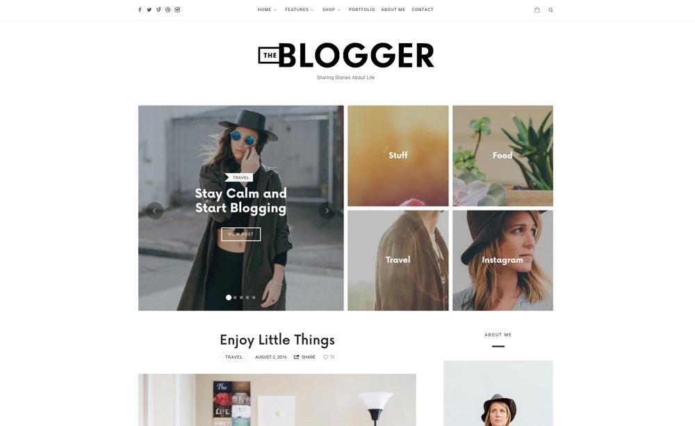 TheBlogger WordPress Blogging Theme