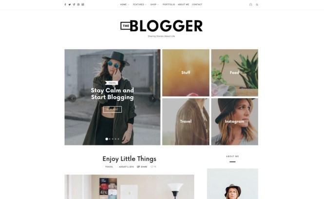 Thème de blog de WordPress TheBlogger