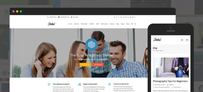 Tema de WordPress total