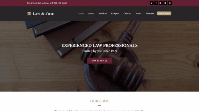 Thème WordPress pour le total des cabinets d'avocats