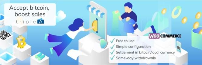 TripleA Téléchargez la passerelle de paiement Bitcoin pour WooCommerce