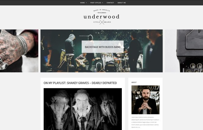 Thème WordPress pour le blog Underwood Story