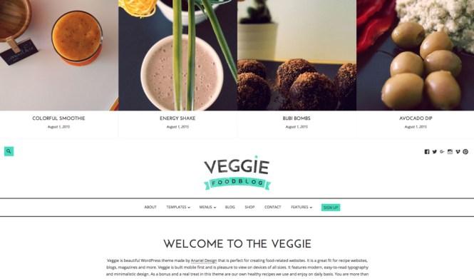 Thème WordPress Veggie Blogging