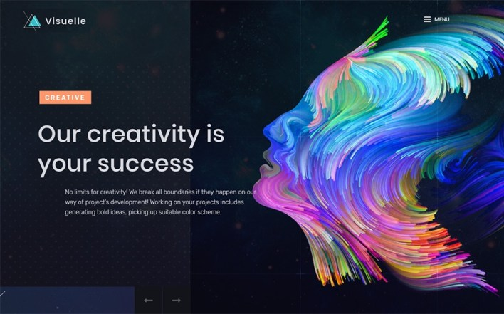 Visuelle Creative Mondrianism Elementor WordPress Theme
