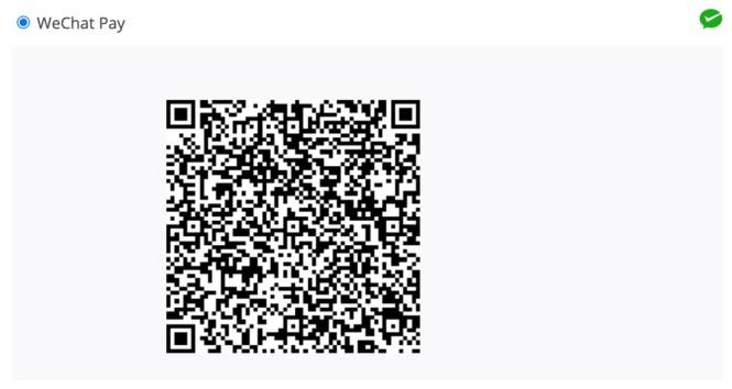 Code QR de WeChat Pay