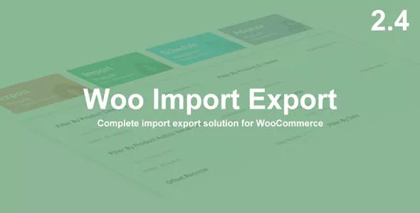 Woo Import Export Plugin