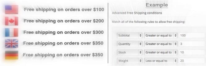 Livraison gratuite avancée WooCommerce