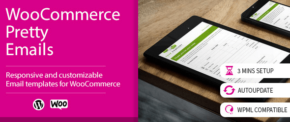 WooCommerce Pretty Emails Premium Plugin WordPress