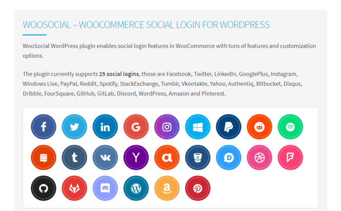 woosocial wordpress plugin de connexion sociale