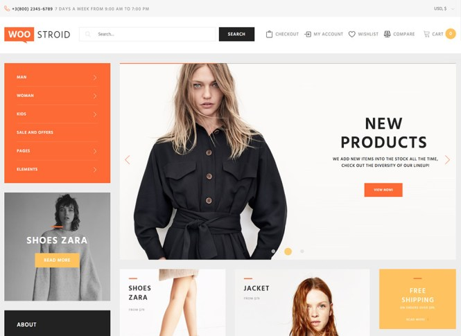 Astuces WooCommerce simples: Menu aplati de Woostroid