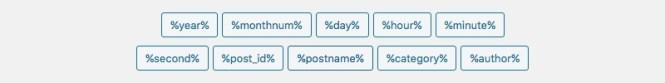 Tags de structure des permaliens WordPress