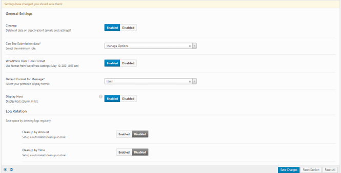 Préférences du plug-in WP Mail Logging