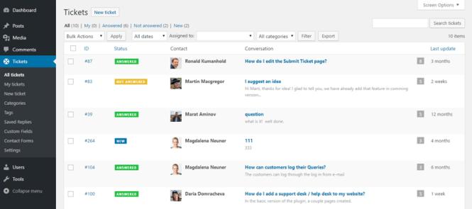 Plugins du Helpdesk WordPress: Helpdesk Catchers