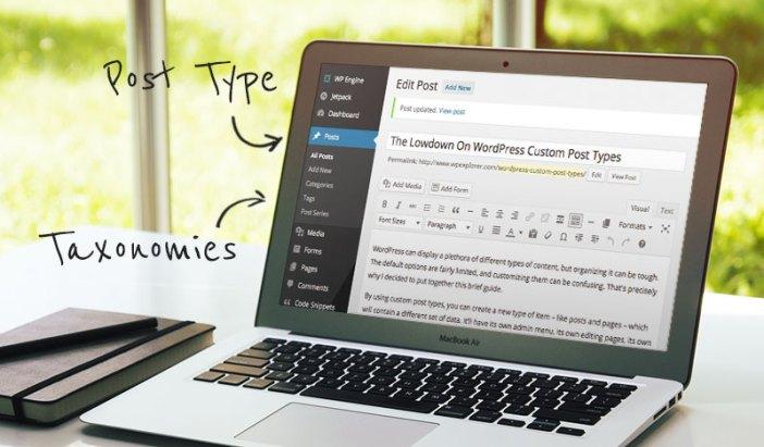 Tipos de mensajes de WordPress y taxonomías